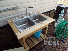 build an outdoor sink part two