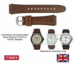 timex brushed leather watch strap band