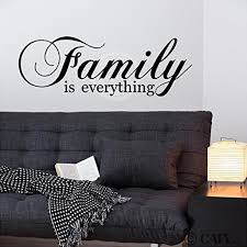 Family Is Everything Wall Saying Vinyl Lettering Art Decal Quote Sticker Home Decal Walmart Com Walmart Com
