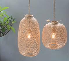 handmade wooden pendant lamp hanging