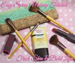 spring makeup tutorial with burt s bees
