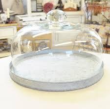 fairy land glass dome display tin
