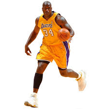 Los Angeles Lakers Shaquille O Neal Fathead Life Size Removable Wall Decal