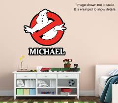 Ghostbusters Name Custom Vinyl Wall Decal Kids Room Decor Personalized Graphics Art Kids Room Wall Decals Custom Vinyl Wall Decals Name Wall Decor