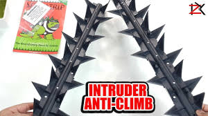 Protect Your Home Garden Intruder Anti Climb Fence Wall Security Spikes Animal Repellent Youtube