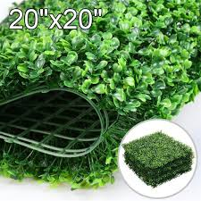 12pcs 20 X 20 Artificial Boxwood Panel Hedge Greenery Indoor Outdoor Walmart Com Walmart Com