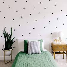 Modern Black Triangle Decals To Accent Your Wall Accent Wall Bedroom Modern Living Room Wall Bedroom Wall