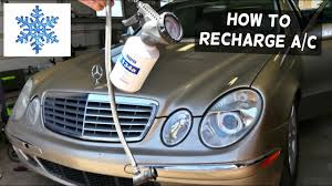 Mercedes W211 How To Rechage The Air Conditioner Ac E320 Youtube