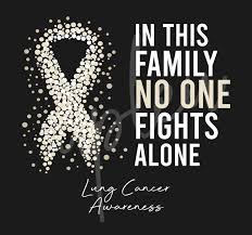 Lung Cancer Svg In This Family No One Fights Alone Svg Lung Cancer Awareness Svg Pearl Ribbon Svg Fight Cancer Svg Awareness Tshirt Svg Digital Files Buy T Shirt Designs