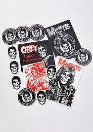 Obey X Misfits Sticker Pack Dolls Kill