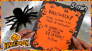 Diy Halloween Invitaciones Para Tu Fiesta Youtube