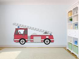 Firetruck Self Adhesive Vinyl Poster Kids Room Wall Decor Kids Etsy