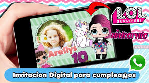 Lol Surprise Dolls Birthday Invitation Invitacion De Cumpleanos