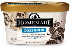 cookies n cream homemade brand ice cream