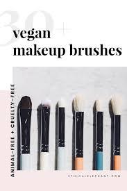 list of 30 vegan makeup brushes fur