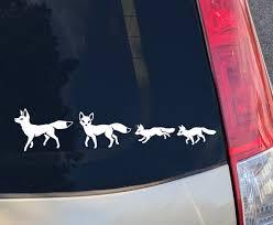 Fox Family Car Window Decal Etsy