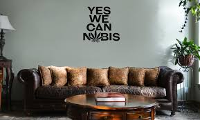 Funny Yes We Can Cannabis Pot Weed Dope Vinyl Wall Mural Decal Home Decor Sticker