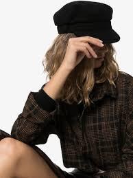 Maison Michel Black Abby Baker Boy Hat | Browns