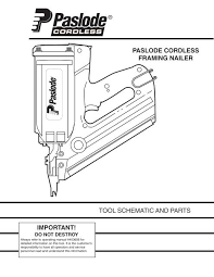 paslode im350 1st fix cordless nail gun