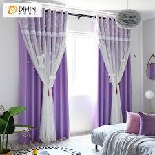 Valance And Blackout Curtain Sheer Window Curtain For Living Room Dihinhome Home Textile