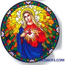 Stained Glass Suncatcher Window Decal Immaculateheart 356 Ih