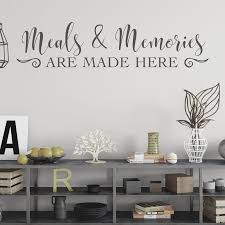 Meals And Memories Are Made Here Kitchen Wall Decal Vinyl Wall Decal Dining Room Decor Ideas Dini Kitchen Wall Decals Dining Room Small Dining Room Remodel