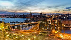 europe evening bridge river