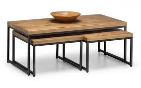 brooklyn oak nesting coffee tables