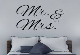 Mr Mrs Wall Decal Sticker Wall Words For Master Bedroom Or Wedding