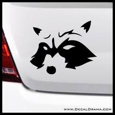 Rocket Raccoon Guardians Of The Galaxy Inspired Fan Art Vinyl Car Laptop Decal Rocket Raccoon Fan Art Laptop Decal
