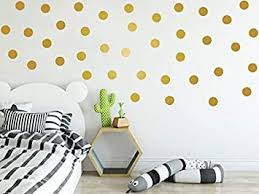 Amazon Com Gold Wall Decals Dots Wall Stickers Stikers 2 Inch 100pcs Easy To Peel Easy To Stick Safe On Walls Paint Gold Round Circles By Bugybagy Matte Gold 2 Inch Baby