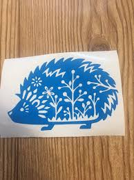 Hedgehog Vinyl Decal Sticker Car Decal Car Accessory Window Sticker Gift Idea Floral Animal Nature Gift F Cute Car Accessories Vinyl Decals Car Decals