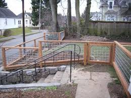 Galvanized Hog Panel Deck Railing Oscarsplace Furniture Ideas Separate And Combine Hog Panel Deck Railing