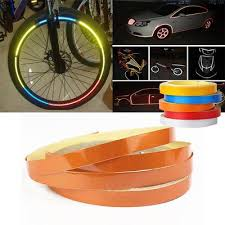 Reflective Car Motorcycle Bike Body Rim Stripe Tape Sticker Roll Diy Decal Buy At A Low Prices On Joom E Commerce Platform