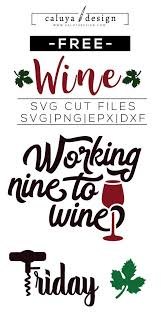 free wine elements svg png eps dxf