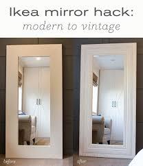 makeover diy floor mirror from ikea