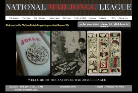 national mah jongg league card mah