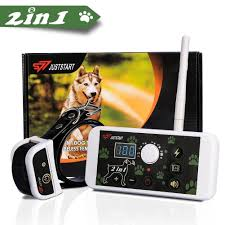 Otviap Wireless Electric Dog Fence Containment System 2 In 1 Invisible Pet Fence System Dog Training Collar Waterproof Rechargeable For All Size Dogs Walmart Com Walmart Com