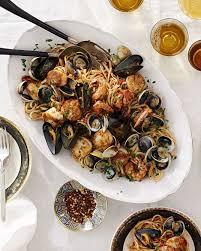 Christmas eve meal, Seafood dinner ...