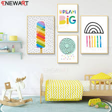 Lovertiful Nursery Room Decor Canvas Painting Dream Big Kids Room Decoration Boy And Girl Room Fashion Pictures Wall Art Painting Calligraphy Aliexpress