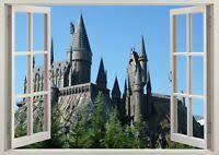 Harry Potter Castle Diagon Alley Wizard 3d Effect Window Wall Sticker Poster 652 Ebay