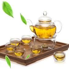 8 pcs set clear glass tea double wall