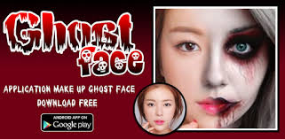 ghost face halloween makeup