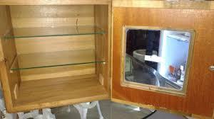 Vintage Wood And Glass Sterilizer Cabinet With Original Decal Medical Dental 1888637747