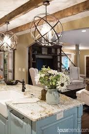 elegant kitchen island lighting idea