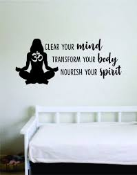 Clear Your Mind Quote Wall Decal Sticker Bedroom Room Art Vinyl Home D Boop Decals