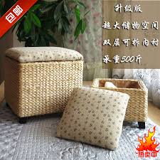 ikea simple rattan garden storage stool