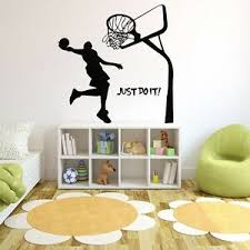 Wall Mural Vinyl Decal Sticker Decor Sport Basketball Just Do It Play Game Kids Ebay