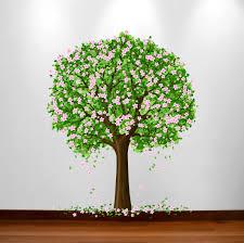 Large Nursery Tree Wall Blossom Leaf Decal Fruit Season Apple Sticker 1179 Innovativestencils