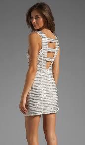 Parker Ivy Metal Zig Zag Dress in Silver | REVOLVE